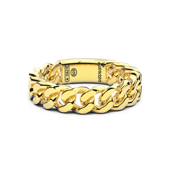 Zancan silver ring with groumette.