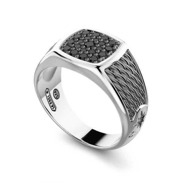 Zancan silver signet ring...