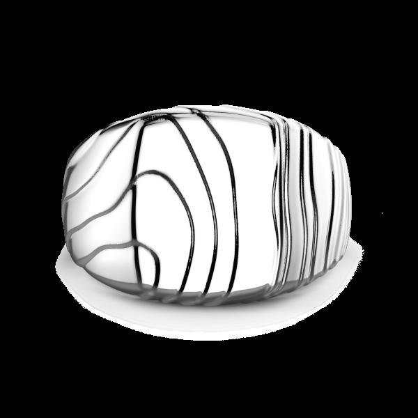 Zancan silver signet ring.
