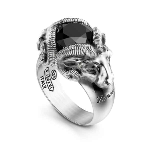 Zancan ring with rams and...