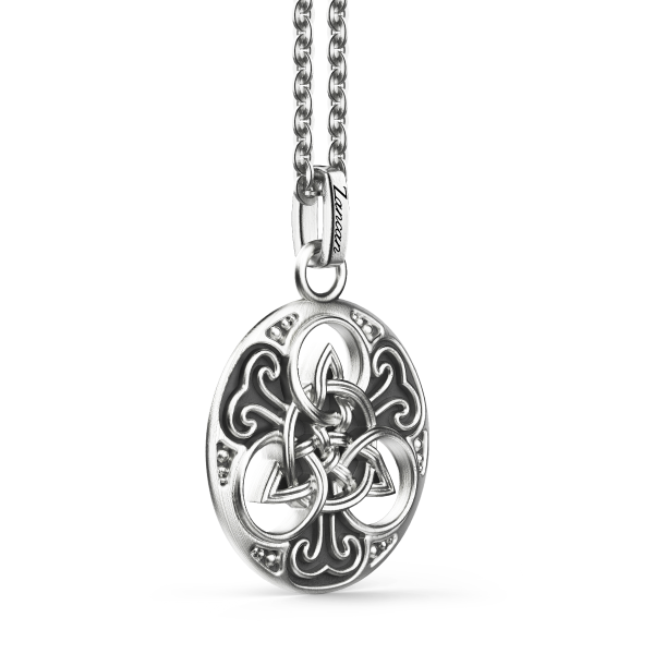 Zancan silver necklace with...