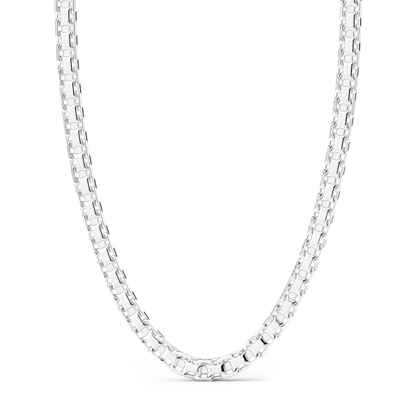 Zancan soft link silver chain.
