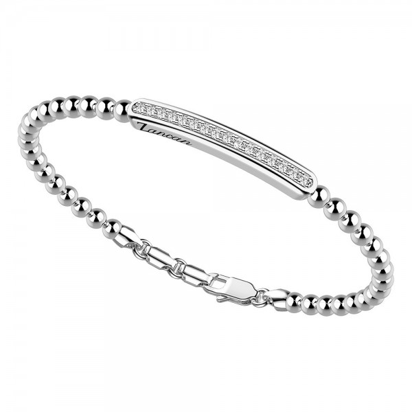 silver  bracelet and white sapphires